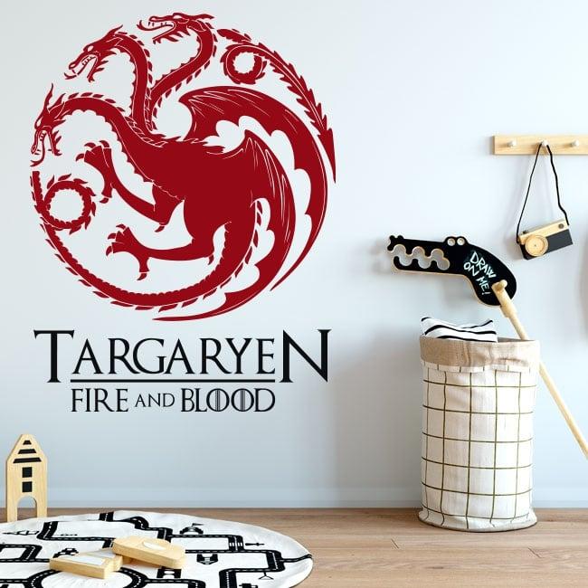 Vinyle décoratif game of thrones le feu et le sang