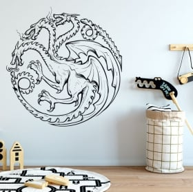 Vinyle et autocollants game of thrones dragon