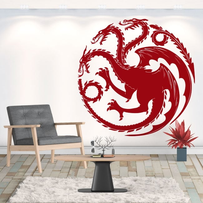 Vinyle décoratif dragon game of thrones