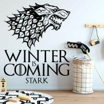 Vinyle décoratif game of thrones l'hiver arrive sévère