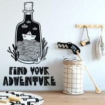 Vinyle décoratif phrase trouvez votre aventure