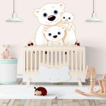 Vinyle murs famille oursons pour enfants