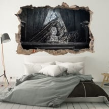 Vinyle décoratif murs game of thrones 3d