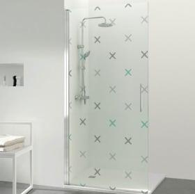 Vinyle pour les écrans traverse les salles de bains