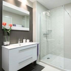Vinyle écrans ondulations pour salles de bains