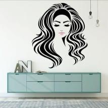 Vinyle murs silhouette féminine