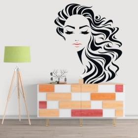 Vinyle décoratif le visage de la femme