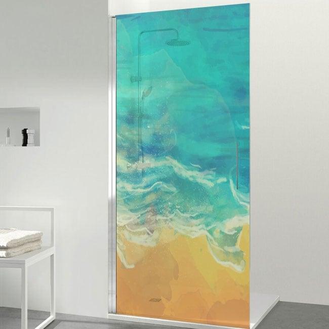 Vinyls écrans couleurs de plage