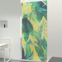 Vinyles pour écrans de salle de bain couleur tropical