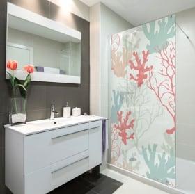 Vinyle écrans toilettes les couleurs de la mer