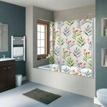 Vinyle écrans fleurs de bain