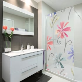 Vinyle écrans impression de fleurs