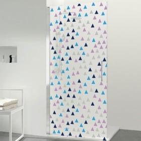 Vinyle pour les écrans triangles colorés