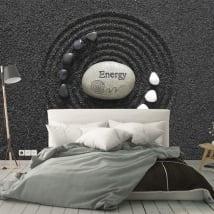 Papiers peints muraux pierres énergétiques zen