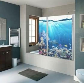 Vinyle écrans de salle monde marin
