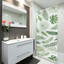 Vinyle écrans de bain laisse la nature
