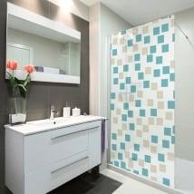 Vinyle écrans de bain carrés de couleurs