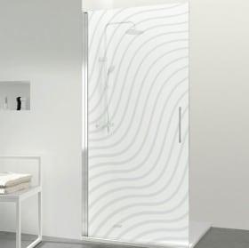 Vinyle pour écrans de salle de bain ondulations