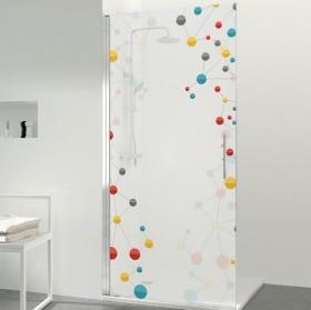 Vinyle écrans de bain des molécules