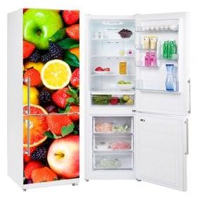Vinyle de réfrigérateur fruits sur la plaque