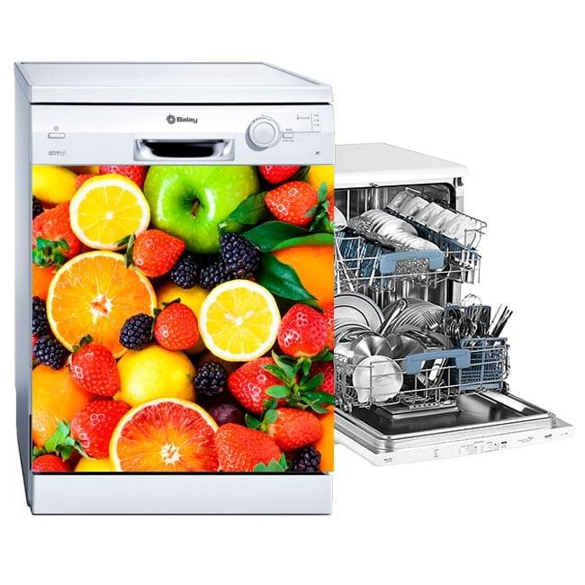 Vinyle vaisselle collage de fruits