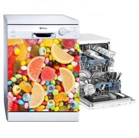 Vinyle vaisselle bonbons et jujubes