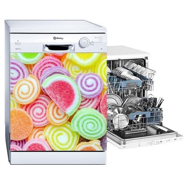 Vinyle décoratif lave-vaisselle gelée
