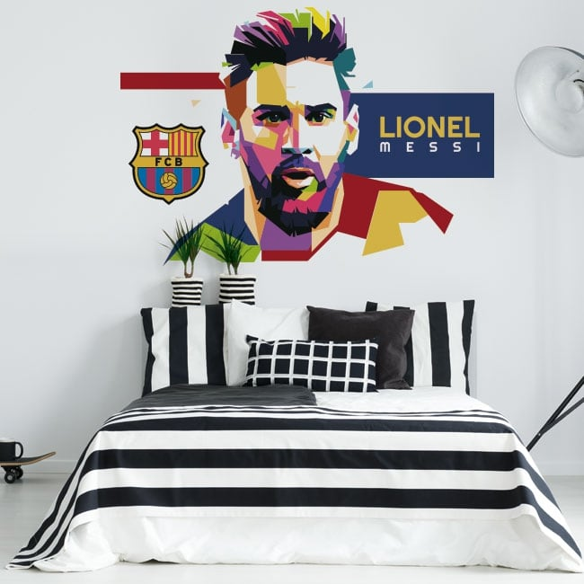 Vinyle lionel messi barcelone football