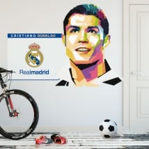 Vinyle cristiano ronaldo real madrid soccer