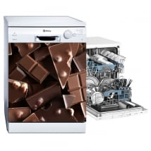 Stickers muraux vaisselle chocolats