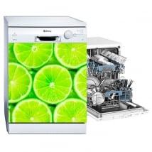 Stickers muraux vaisselle citrons