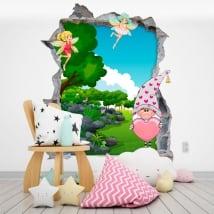 Vinyle pour enfants gnome et fées magiques 3d