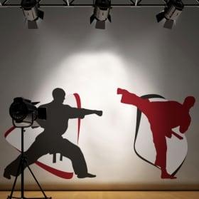 Vinyle adhésif murs karate-do
