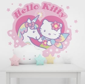 Vinyle et autocollants murs hello kitty