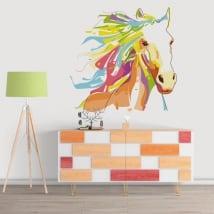 Vinyle décoratif murs cheval style wpap