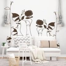 Vinyle décoratif fleurs de picasso