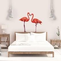 Vinyle décoratif paroi flamants