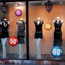 Vinyle ventes vitrines magasins et boutiques
