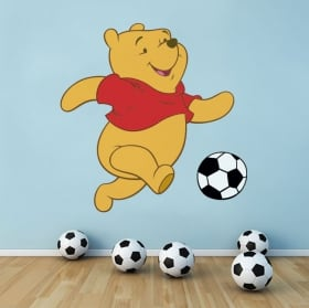 Stickers muraux winnie l'ourson le football