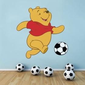 Stickers muraux winnie l'ourson le football