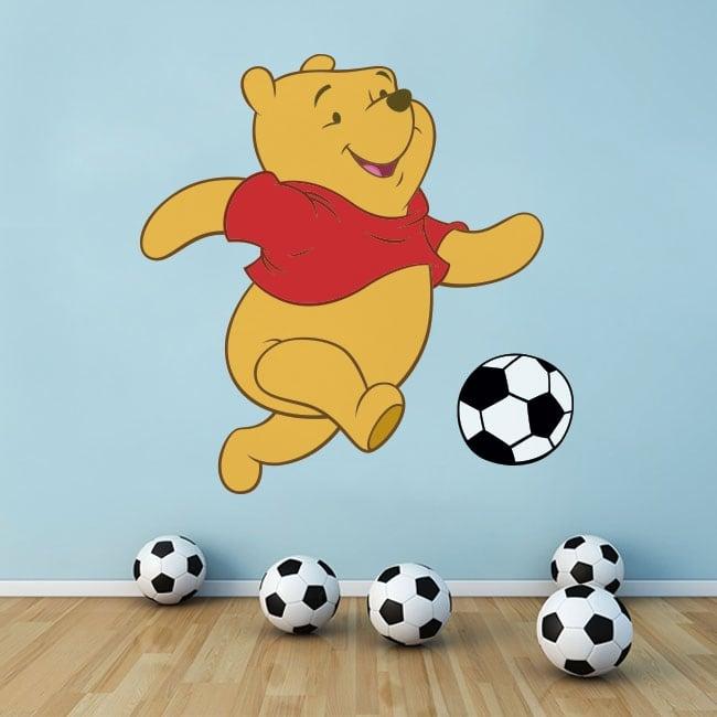 Stickers muraux winnie the pooh le football