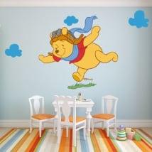 Vinyle pour enfants winnie the pooh aviateur