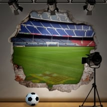 Vinyle stade de football camp nou barcelone 3d