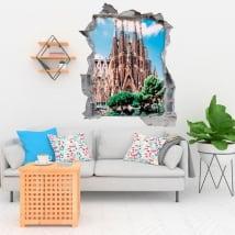 Vinyle décoratif barcelone la sainte famille 3d