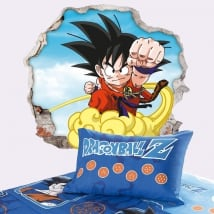 Vinyle murs dragon ball son goku 3d
