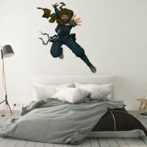 Vinyle décoratif silhouette de ninja
