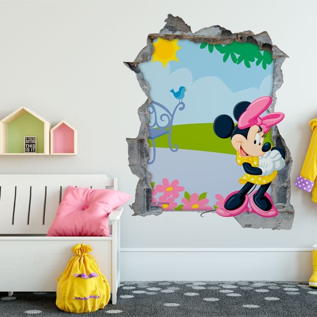 Stickers muraux minnie mouse disney 3d