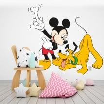 Vinyle pour enfants mickey mouse et pluto disney
