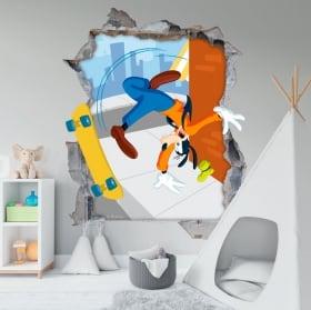 Vinyle murs disney goofy 3d