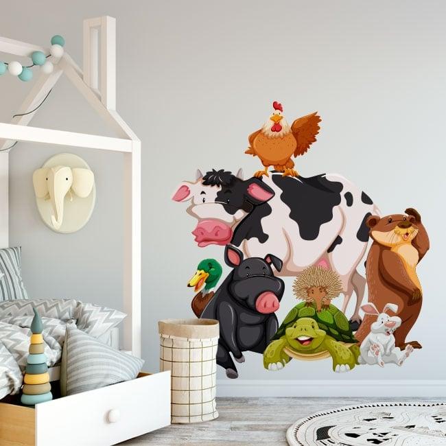 Vinyle pour enfants animaux de la ferme